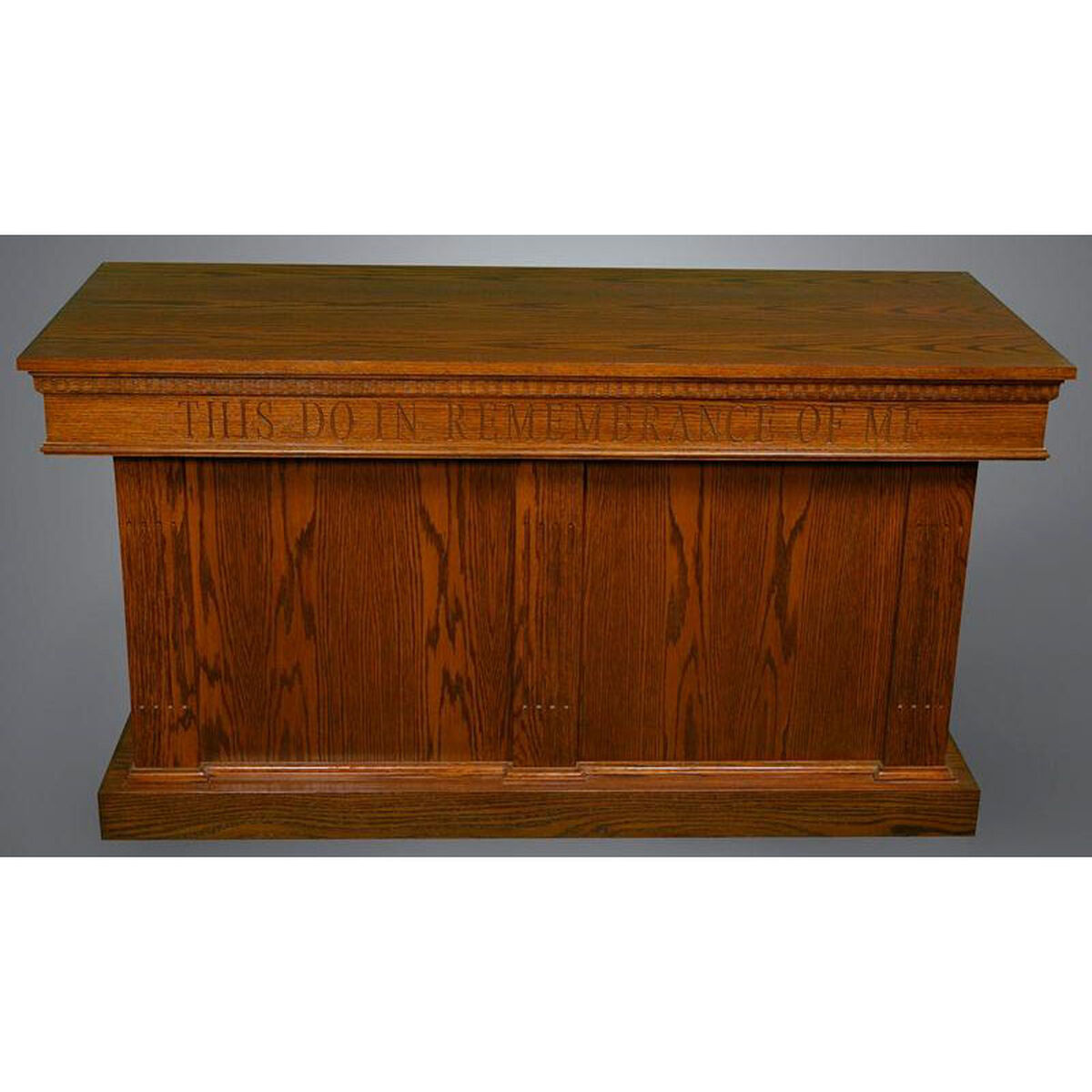 red oak closed communion table 8410ct | bizchair