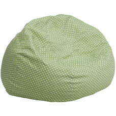 Oversized Green Dot Bean Bag Chair for Kids and Adults