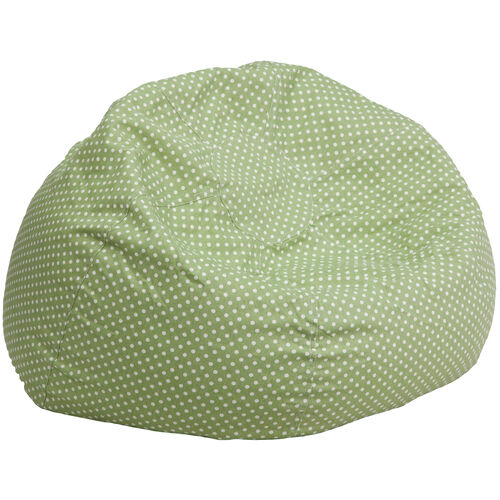 Our Oversized Green Dot Bean Bag Chair for Kids and Adults is on sale now.