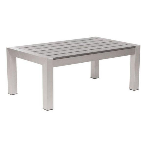 Cosmopolitan Coffee Table in Brushed Aluminum