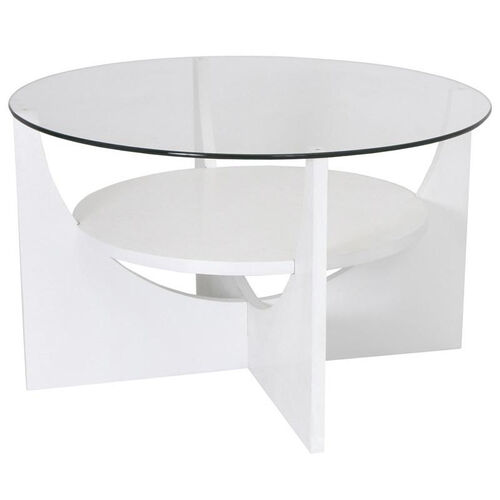 U-Shaped Coffee Table in White