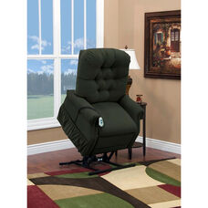 Two Way Petite Reclining Power Lift Chair with Matching Arm and Headrest Covers - Aaron Hunter Fabric