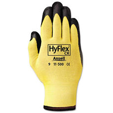 AnsellPro HyFlex Ultra Lightweight Assembly Gloves - Black/Yellow - Size 10 - 12 Pairs