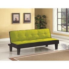 Hamar Adjustable Sofa with Tufted Fabric Seat and Back - Green