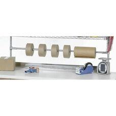 Chrome Tape Dispenser/Roll Holder For Bench Or Riser