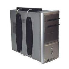 DOC Adjustable Space Saving Petite Vertical Aluminum CPU Holder - Black