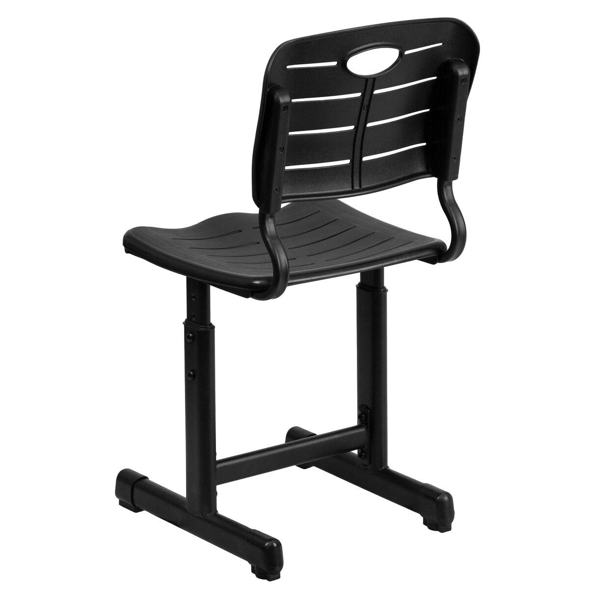 Black Plastic Student Chair YU-YCX-09010-GG | Bizchair.com