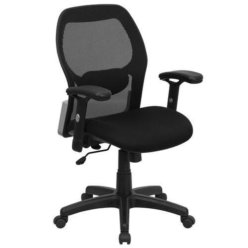 Our Mid-Back Black Super Mesh Executive Swivel Office Chair with Adjustable Lumbar & Arms is on sale now.