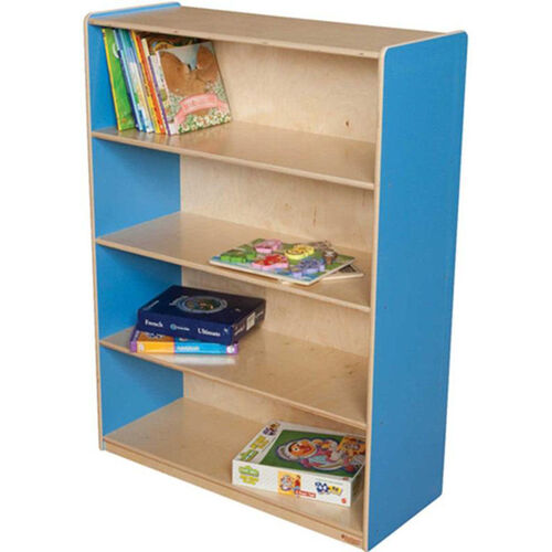 Our Wooden 4 Fixed Shelf Bookcase with Plywood Back - Blueberry - 36