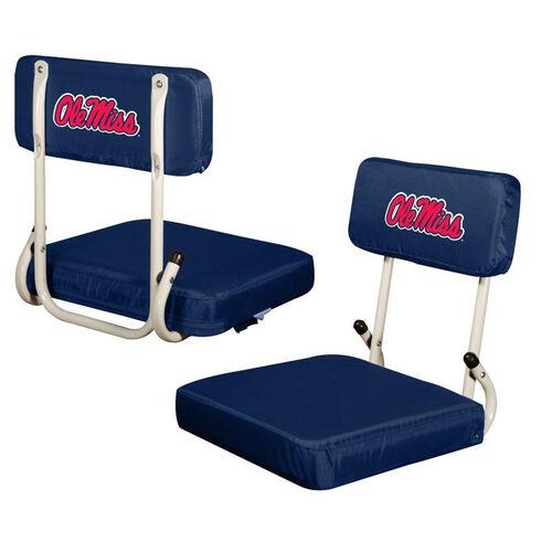 University of Mississippi Team Logo Hard Back Stadium Seat