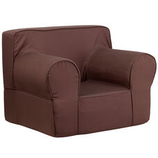 Oversized Solid Brown Kids Chair