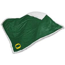 University of Oregon Team Logo Sherpa Throw