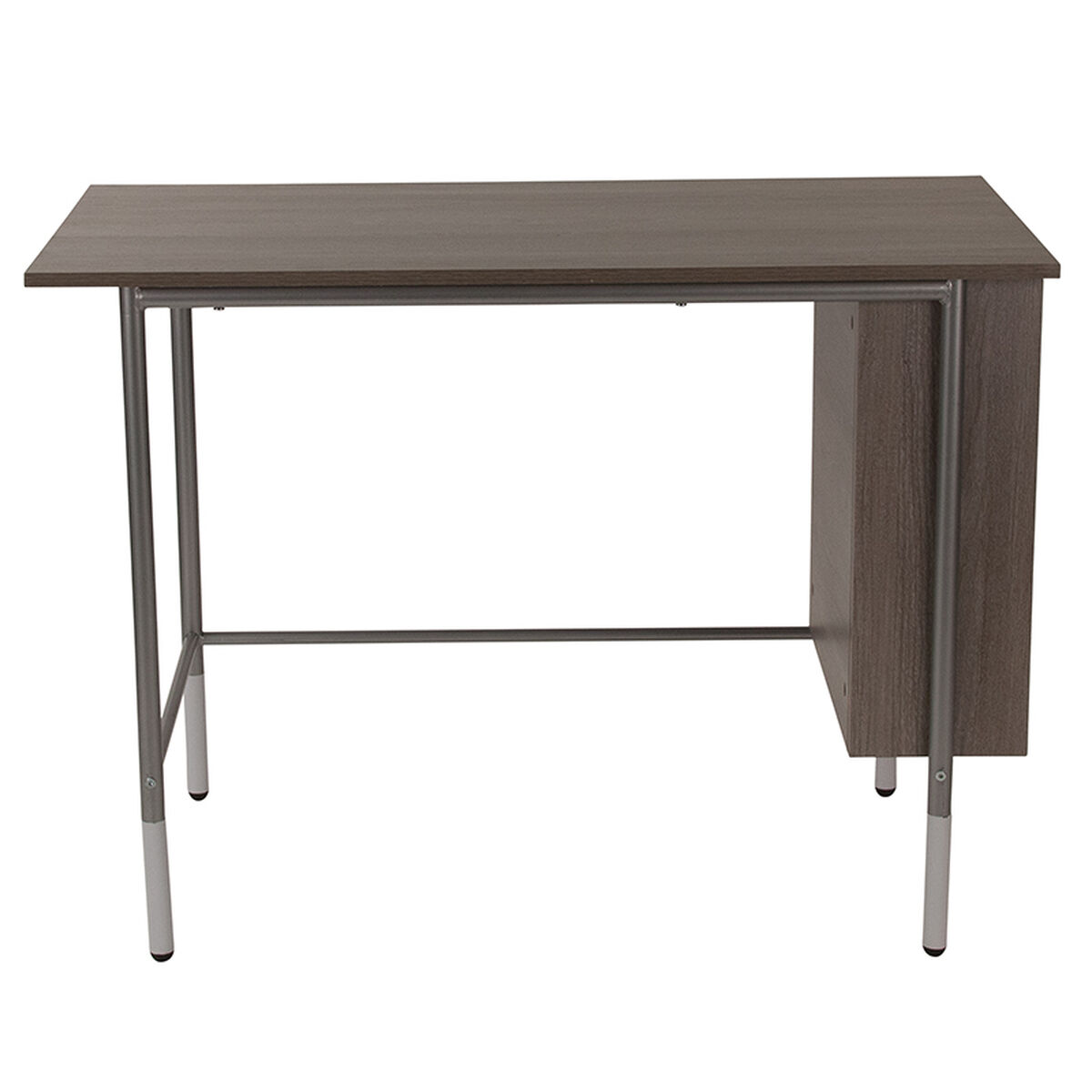 Our Hillside Light Applewood Finish Computer Desk With Side Storage Shelves Is On Now