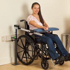 Wall Mounted Adjustable Wheelchair Blood Drawing Station