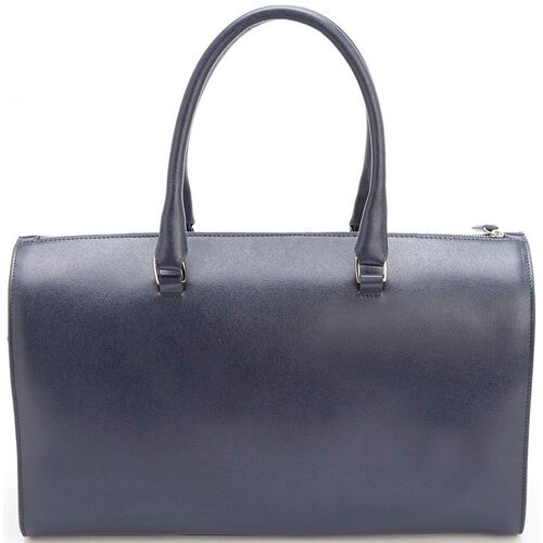 Our RFID Blocking Carry On Travel Duffle Barrel Luggage Bag- Saffiano Genuine Leather - Blue is on sale now.