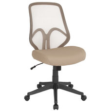 Salerno Series High Back Light Brown Mesh Office Chair