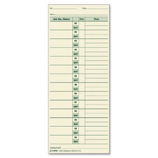 Tops Job Cards Time Cards - Pack Of 500