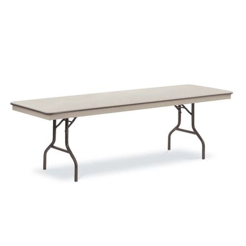 Our Core-A-Gator Plastic Greystone Top Folding Table with El Dorado Bronze Aluminum Frame - 30