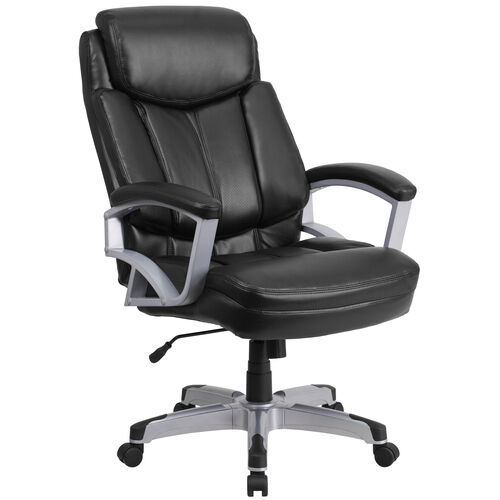 Our HERCULES Series Big & Tall 500 lb. Rated Black LeatherSoft Executive Swivel Ergonomic Office Chair with Arms is on sale now.