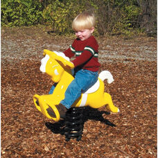 Aluminum Pony Spring Rider with Powder Coat Paint Finish and Safety Handles