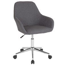 Cortana Home and Office Mid-Back Chair in Dark Gray Fabric