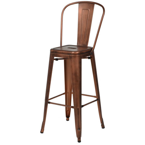 Our Oscar Steel Armless Barstool - Brushed Rose Gold is on sale now.