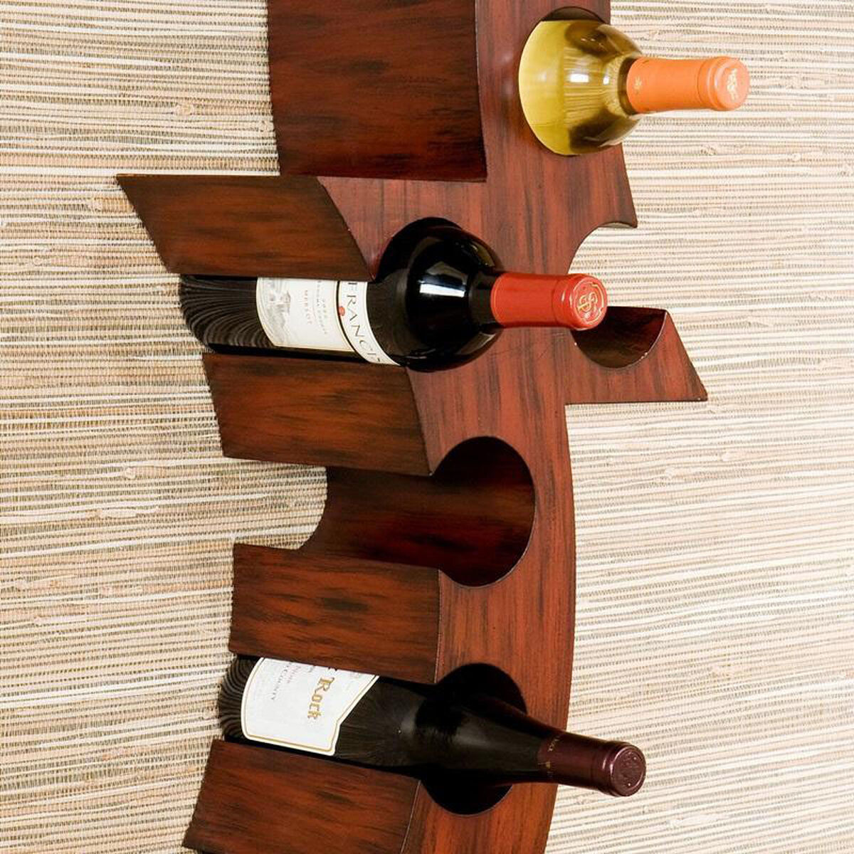 Abstract Wood Wall Mount Wine Rack Hz1010 Bizchaircom