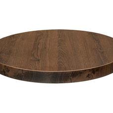 Marco 24'' Round Indoor Melamine Table Top - Havana Oak