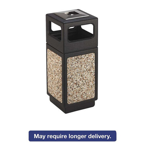 Our Safco® Canmeleon Ash/Trash Receptacle - Square - Aggregate/Polyethylene - 15gal - Black is on sale now.