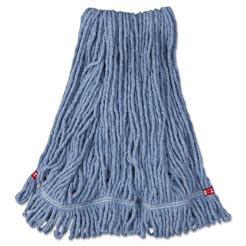 Our Rubbermaid® Commercial Web Foot Wet Mop Head - Shrinkless - Cotton/Synthetic - Blue - Medium - 6/Carton is on sale now.