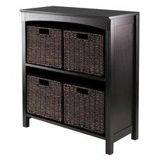 Terrace 5-Pc Storage 3-Tier Shelf with 4 Small Baskets
