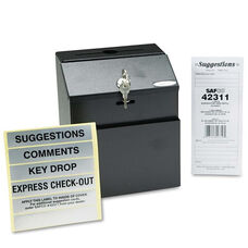 Safco® Steel Suggestion/Key Drop Box with Locking Top - 7 x 6 x 8 1/2