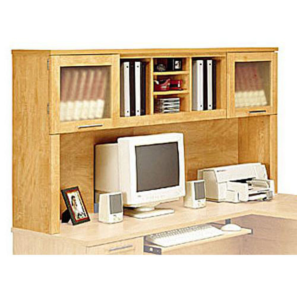 Our Somerset 71 W L Shaped Computer Desk Hutch Maple Cross Is