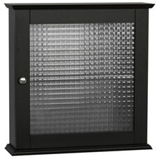 Chesterfield Medicine Cabinet with One Glass Door - Espresso