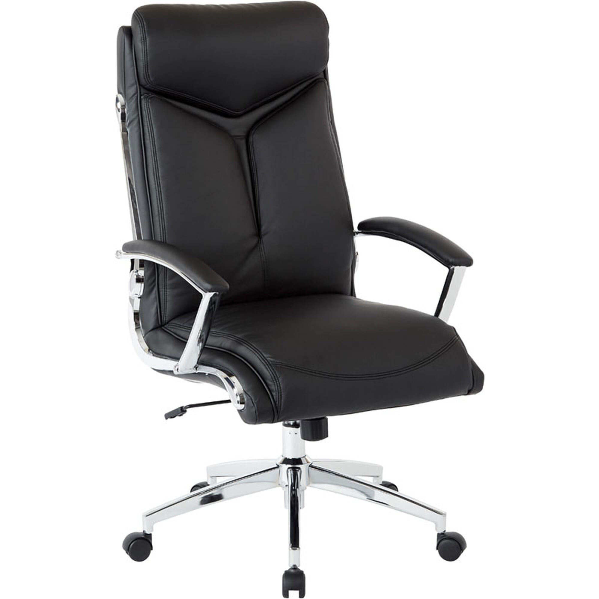 Our Work Smart Executive Faux Leather High Back Chair With