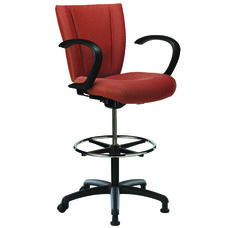 Monterey II 400 Series Medium Back Multiple Shift Adjustable Swivel and Seat Height Stool