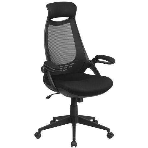 Our High Back Mesh Executive Swivel Chair with Flip-Up Arms is on sale now.