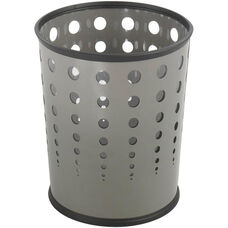 At-Your-Disposal® Puncture Resistant 6 Gallon Bubble Wastebaskets - Set of Three - Gray