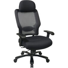 Space Professional Air Grid Back and Mesh Seat Office Chair with 400 lb. Weight Capacity and Lumbar Support - Black