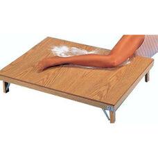 Powder Board Scratch Resistant Rectangle Table - Oak Laminate