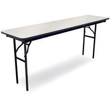 72''D Rectangular Laminate Seminar Table with Locking H-Style Legs