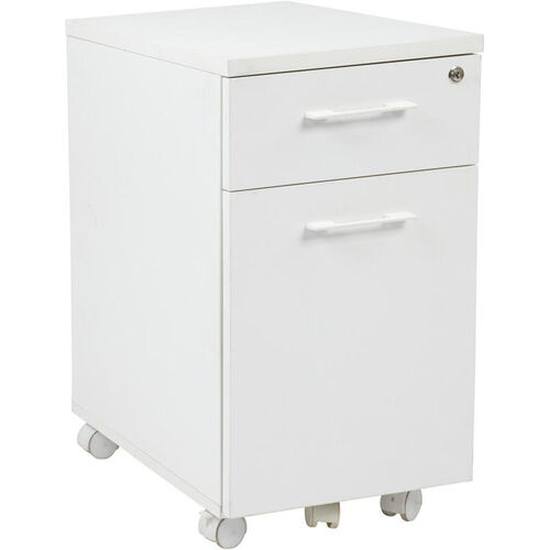 Our Pro-Line II Prado Mobile File with Hidden Drawer and Locking Casters - White is on sale now.