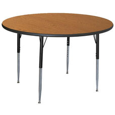 Round Activity Table with Lotz Armor Edge and Adjustable Legs
