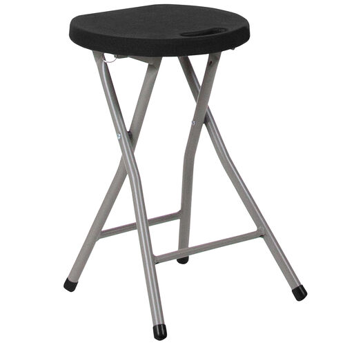 Our Foldable Stool with Black Plastic Seat and Titanium Gray Frame is on sale now.