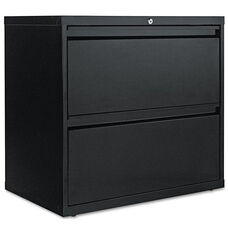 Alera® Two-Drawer Lateral File Cabinet - 30w x 19-1/4d x 28-3/8h - Black