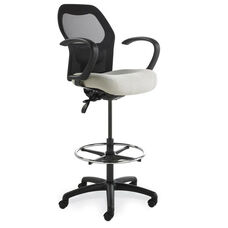 Grid 300 Series Medium Round Back Single Shift Quick Set Back Height Stool