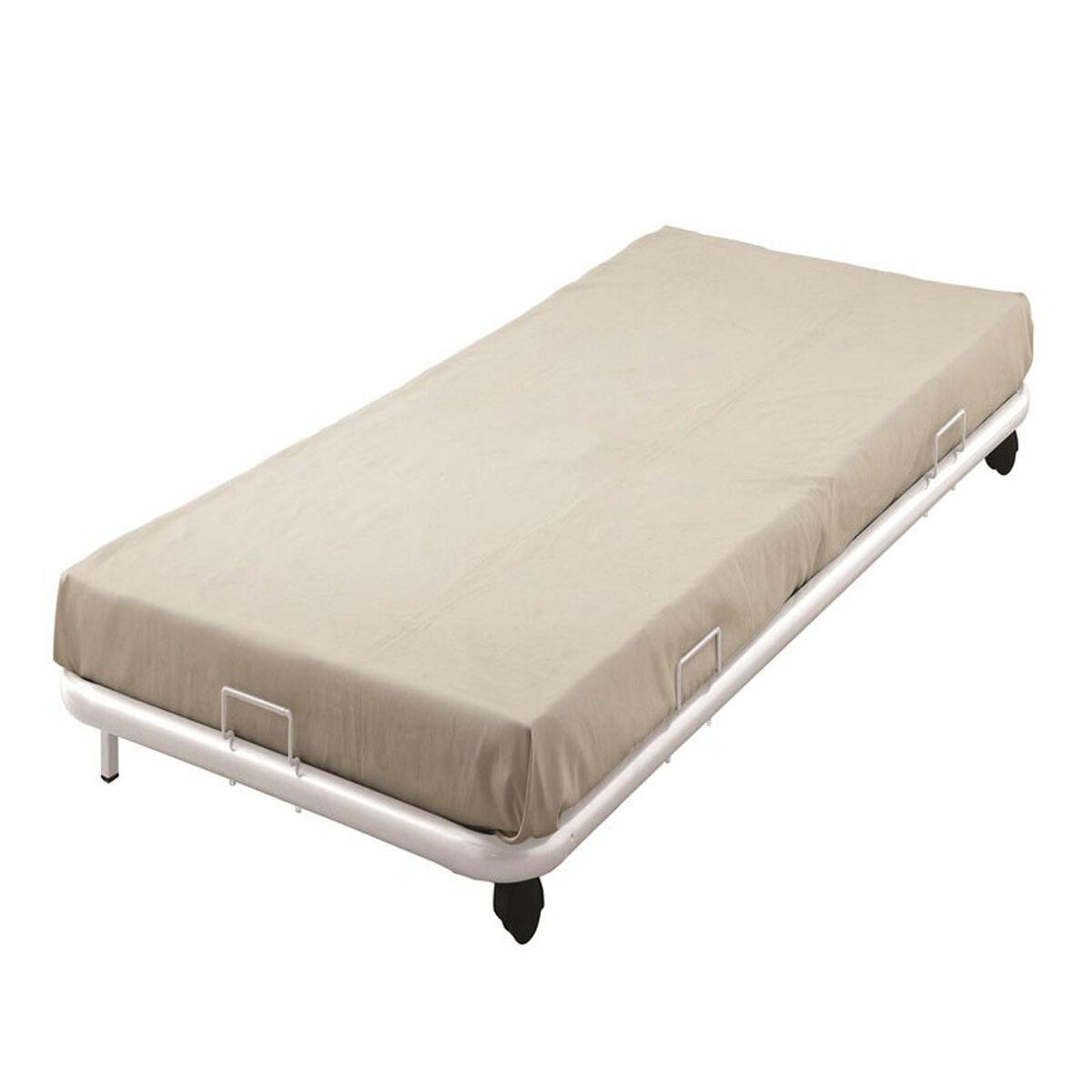 Our Cailyn Metal Trundle Bed With Casters Full White Is On Now