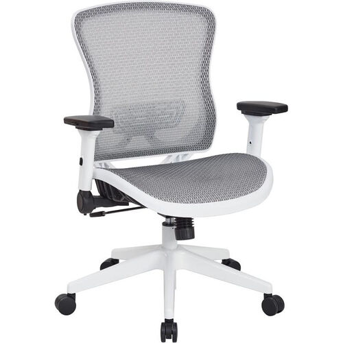 Our Space White Breathable Mesh Seat and Back Managers Chair with Adjustable Flip Arms is on sale now.