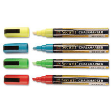 Deflecto Nontoxic Chisel Tip Wet-erase Markers - White Ink