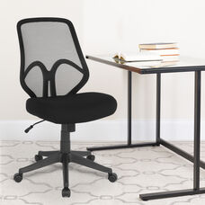 Salerno Series High Back Black Mesh Office Chair